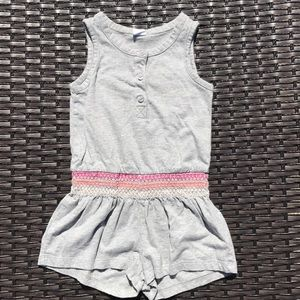 Baby GAP grey jersey rompers